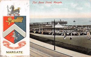 MARGATE KENT UK~FORT BANDSTAND~HERALDIC EMBLEM~W J MUNNS PUBL POSTCARD 1907