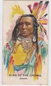 B A T Vintage Cigarette Card Indian Chiefs No 4 King Of The Crows Crow Tribe ...
