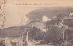 CHERBOURG, Manche, France, PU-1916; Landemer, La Plage Et Le Chalets