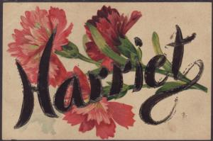 Harriet,Flowers Postcard