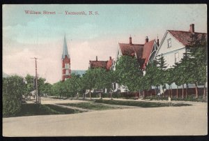 Nova Scotia YARMOUTH William Street Canadian Private Post Card - Divided Back