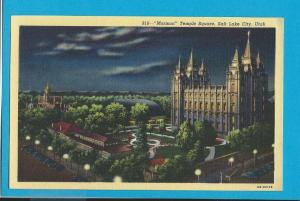Postcard Mormon Temple Square Salt Lake City, Utah   #  228