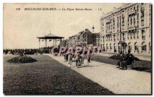Boulogne sur Mer - La Digue Sainte Beuve - Old Postcard