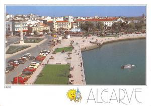 Portugal Algarve Faro monument, animated, cars, avenue, rue, road, street