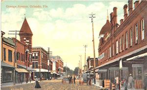 Orlando FL Dirt Street View Store Front's Horse & Wagons Postcard