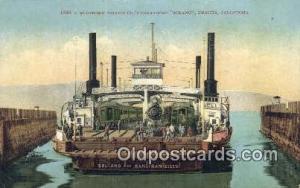 Southern Pacific Ferryboat Solano, Benicia, California, CA USA Ferry Ship Pos...