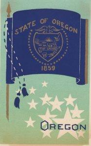 OREGON , State Flag , 40-50s ; Serigraph