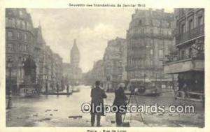 Souvenir des Indondations de Janvier 1910 Camera Postcard Post Card Old Vinta...
