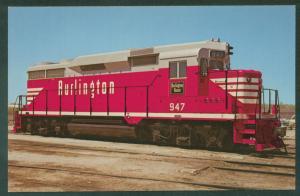 Chicago Burlington Quincy No. 947 EMD GP30 Railroad Train Postcard