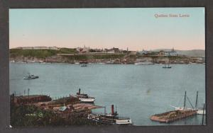 Early View Of Quebec City From Across The River At Levis - Old Ships