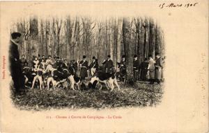 CPA Chasses a Courre de COMPIEGNE La Curée (424049)