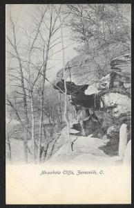 Moxahala Cliffs With Snow Zanesville Ohio Unused c1907