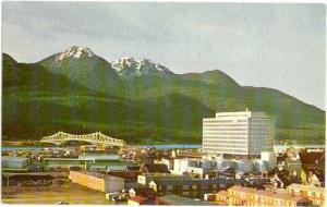Juneau Alaska, AK, Government Building and Bridge to Douglas, Chrome