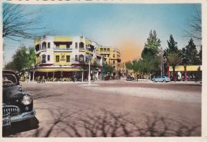 RP: FES , Morocco , 1940s-50s : Place Clemenceau