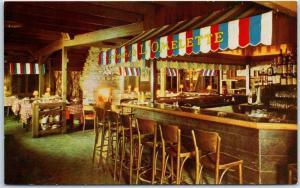 Palo Alto, California Postcard L'OMELETTE French Restaurant El Camino Real 1960s