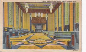 Nebraska Omaha Union Station Main Waiting Room 1944 Curteich
