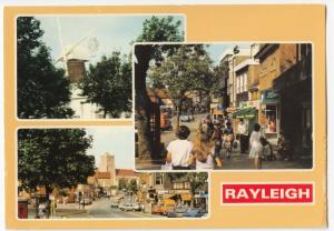 Essex; Rayleigh Multiview PPC, Unposted, Shows Windmill & High St c 1980's