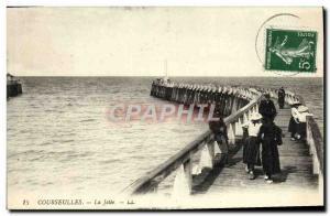 Old Postcard Courseulles La Jetee