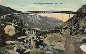 GEORGETOWN LOOP ( Railroad ), Colorado, PU-1912 : High Bridge (Train Tracks)