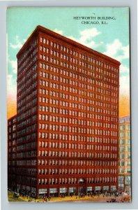 Chicago IL-Illinois, Heyworth Building, Madison Street Vintage Postcard