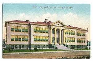 Primary School Watsonville California Vintage Standard View Postcard