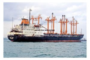 mc4233 - Singapore Cargo Ship - Meng Yang ,built 1974 ex Sherbro -photograph 6x4