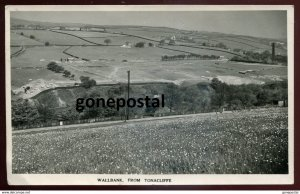 dc1533 - ENGLAND Wallbank 1930s View from Tonacliffe. Withworth. Real Photo Post