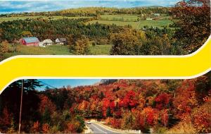 Misprint Defective Postcard No Travel Location No Destination Blank Farm Autumn