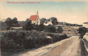 Stonington Connecticut Wequetequock Chapel Street View Antique Postcard K49385