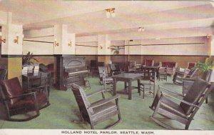 Washington Seattle Holland Hotel Parlor Interior