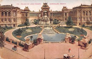 Palace of Long Champs Marseilles France Writing on back