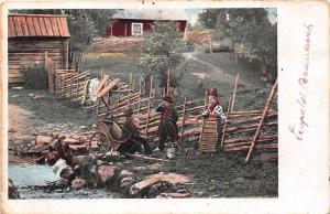 B86581 child enfant folklore   lapland sami types ethnics sweden