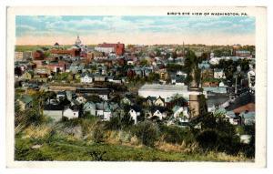 Bird's-Eye View of Washington, PA Postcard *5N2