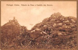 Portugal Old Vintage Antique Post Card Palacio da Pena e Castello dos Mauros ...