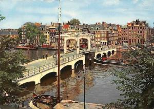 Netherlands Amsterdam Amstel Magere Brug River Bridge Boats Pont Bateaux