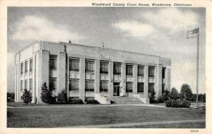Woodward Oklahoma Court House Exterior Street View Antique Postcard K20496