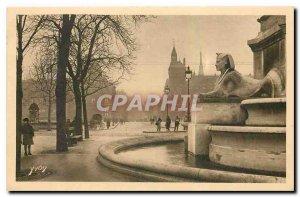 Old Postcard Paris Place du Chatelet