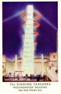 NY - 1939 New York World's Fair. Singing Cascades, Westinghouse Building