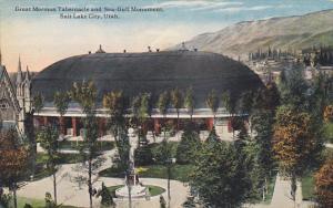 Utah Salt Lake City Great Mormon Tabernacle and Sea-Gull Monument Curteich