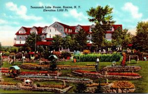 New York Roscoe Tenannah Lake House Curteich