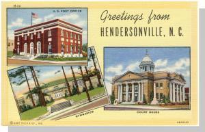 Henderson, North Carolina/NC Postcard, Greetings/Multi-View