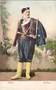 Greece Cretois Man In Typical Costume