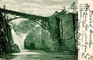 NJ - Paterson. Passaic Falls, The Chasm Bridge