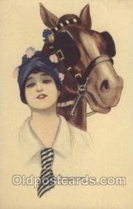 Series no. 150-6 Artist Signed Giovanni Nanni (Italy) 1919 square corners, po...