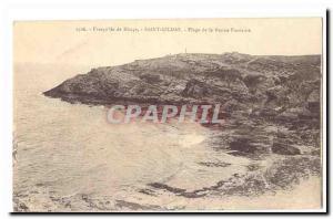 Presqu'ile de Rhuys Saint Gildas 39ile Old Postcard Good Fountain Beach