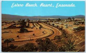 ENSENADA, Mexico   ESTERO BEACH RESORT  RVs & Trailers  c1960s-70s  Postcard