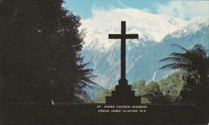 New Zealand South Westland St James Church Window Franz Josef Glacier