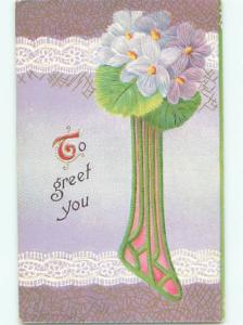 Divided-Back BEAUTIFUL FLOWERS SCENE Great Postcard AA3865