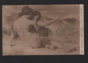 077659 Nude MERMAIDS near Sea by LAURENS vintage PC