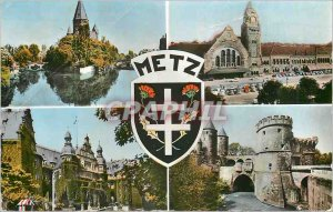 Modern Postcard Metz The Protestant Temple The Governor's Palace Station Port...